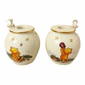 Lenox Winnie The Pooh Disney Candle Holders X 2